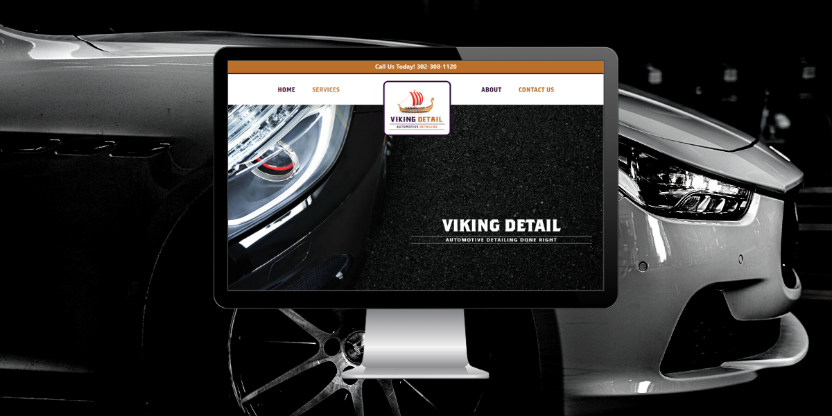 The auto detailing website design for Viking Detail
