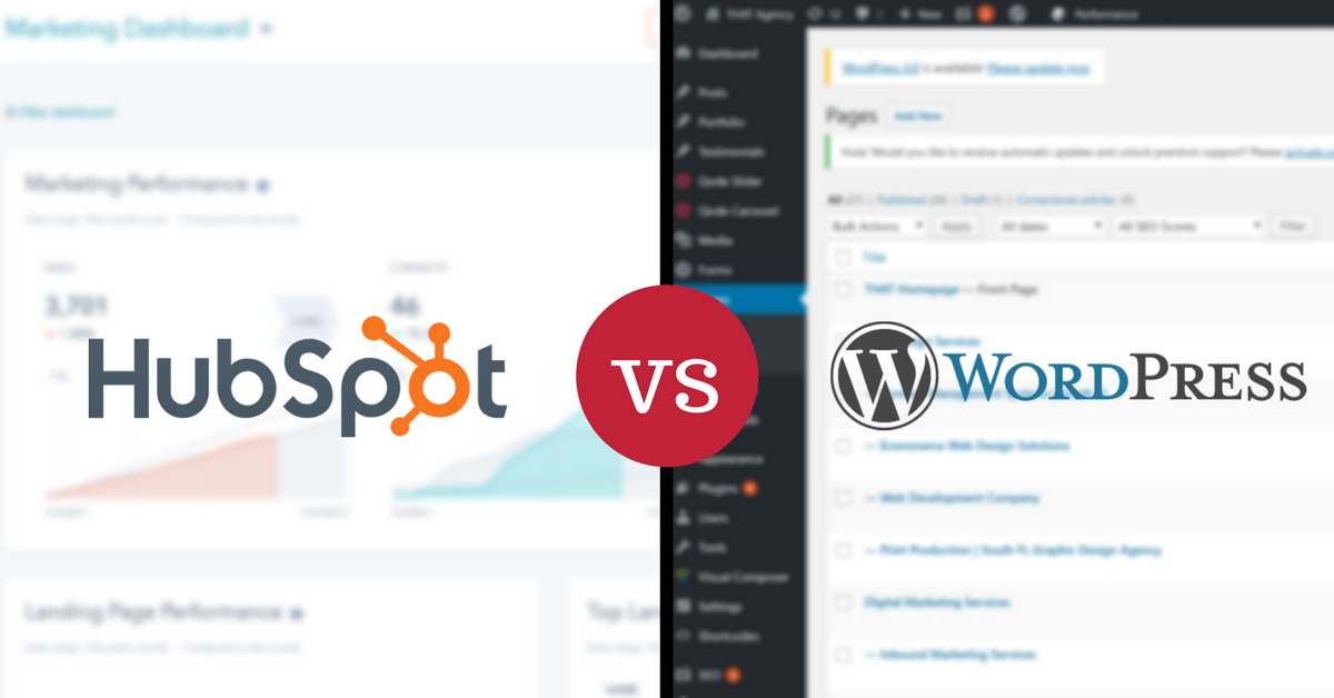 CMS Comparison: HubSpot vs. WordPress