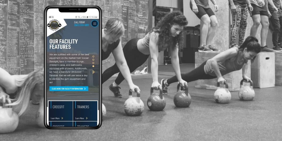 Gym website design for CrossFit Sea Dog of Jupiter, Florida