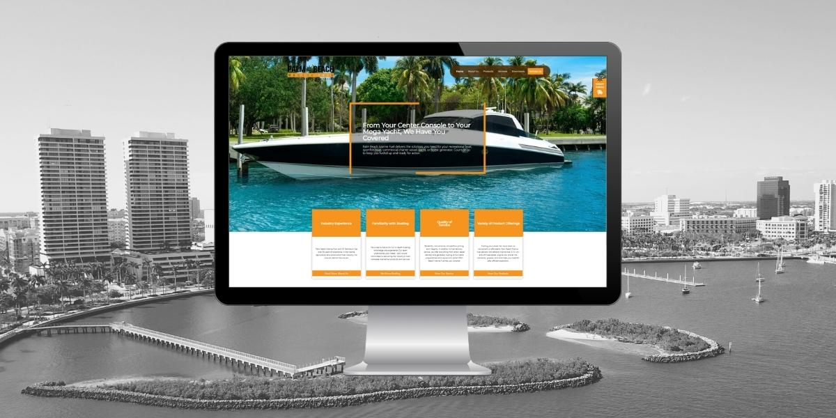 A new marine industry website design by THAT Agency of West Palm Beach, Florida