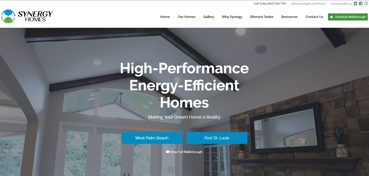 New Website Announcement | Synergy Homes of Florida | THAT Agency | Palm Beach Web Development Company